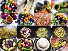 Tutorial: Braised Stuffed Summer Vegetables, step-by-step #recipe, ; armenian + middle eastern food