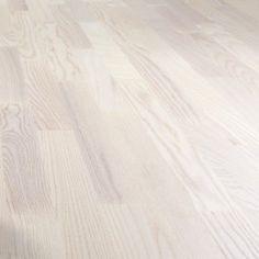 LOGOCLIC PARKETTGOLV ASH WHITE Hardwood Floors, Flooring, Bauhaus, Ash, Tiles, Wood Floor Tiles, Gray, Room Tiles, Wood Flooring