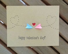 This sweet Valentine& card is suitable for those . This sweet Valentine& card is suitable for those who love long-distance - Valentine Day Crafts, Happy Valentines Day, Diy Valentines Cards, Valentines Day Long Distance, Homemade Valentine Cards, Valentines Day Presents, Love Cards, Diy Cards, Tarjetas Diy