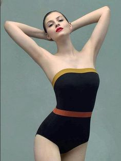 Eres strapless one-piece with multicolor bands, $465 at Barneys New York.