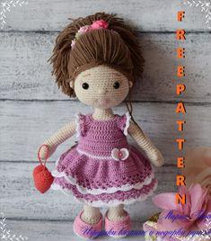 Giraffe Crochet, Doll Patterns Free, Crochet Amigurumi Free Patterns, Christmas Crochet Patterns, Doll Amigurumi Free Pattern, Crochet Doll Pattern, Amigurumi Doll, Crochet Doll Clothes, Knitted Dolls