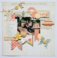 """Paperlicious Designs: My Mind's Eye Layout """"The Sweetest Thing"""""""