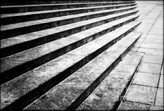 Abstract With Concrete   Artist  James Aiken   Medium  Photograph - Photography   Description  Abstract view of concrete stairs in the sloped sidewalk of the city street.