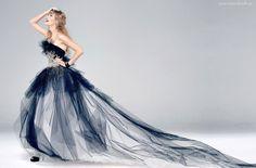 Taylor Swift, Uśmiech, Długa, Suknia, Tren