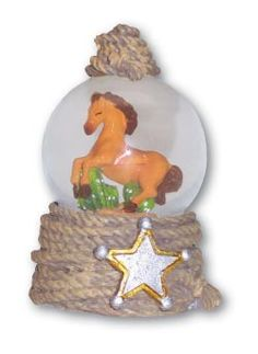 3-inch Snow Globe with Horse