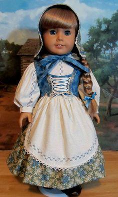 Swedish Dirndl made for AG Doll Kirsten- An Original KeepersDollyDuds design