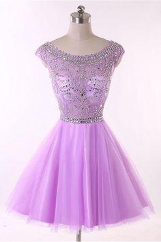 Elegant Homecoming Dress, Purple Homecoming Dress,Wedding Party Dress,Homecoming…