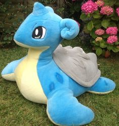 very large lapras pokemon plush whoever has this let them know my birthday was this month thnx lmao