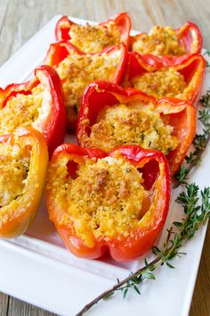 Lickety Split Chicken and Cheese Stuffed Peppers - It's crazy how quickly these stuffed peppers come together. you'll have them in the oven within minutes. While they cook, you won't even have time for an episode of Veep. In fact, we bet you'll be finished eating before the show is over.
