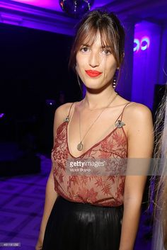 Jeanne Damas attends Vogue 95th Anniversary Party on October 3, 2015 in Paris, France.