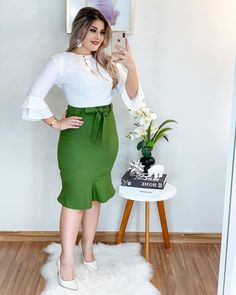 105 Best Casual Work Outfits For Women's To Try Stylish Summer Outfits, Casual Work Outfits, Professional Outfits, Summer Fashion Outfits, Work Attire, Work Casual, Work Fashion, Casual Dresses, Fashion Dresses