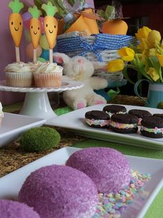 Pretty Easter dessert table