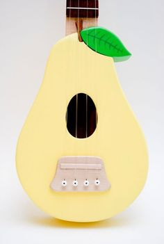 pear ukulele by celentanowoodworks Ukulele Instrument, Ukulele Art, Cool Ukulele, Guitar Art, Banjo, Painted Ukulele, Ukulele Design, Homemade Instruments, Pyrus
