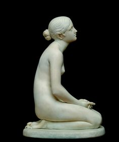 Lorenzo Bartolini b. Savignano 1777 d. Florence 1850. Faith in God (Carrara marble) 1834 Museo Poldi Pezzoli Milan.