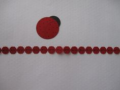 "Ladybug 12"" Border & Embellishment - made w/ Creative Memories Border Maker System & Frame Chain Cartridge, Shape Maker System w/ 2"" Circle Cartridge & 1 1/4"" Circle Punch."