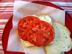 Basic tomato sandwich, with DUKE'S mayo of course.