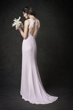 Gallery Style GA2277 | stunning backless crepe bridal gown | romantic garden wedding | Kenneth Winston wedding dress