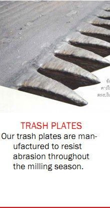 Our trash plates are manufactured to resist abrasion throughout the milling season. Sugar Industry, International Companies, Milling, Plates, Technology, Licence Plates, Tech, Dishes, Griddles