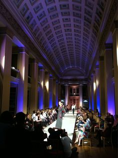 ECA Fashion show 2012 in Playfair Library, Old College, University of Edinburgh.