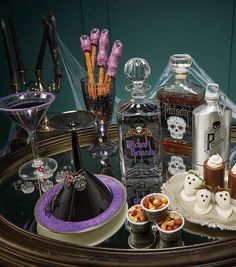 Adult Halloween Party Table Scape