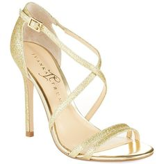 Ivanka Trump Duchess Heel ($78) ❤ liked on Polyvore featuring shoes, sandals, heels, gold, sapato, open toe sandals, ivanka trump footwear, open toe shoes, heeled sandals and gold heel sandals