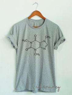 Caffeine Coffee t-shirt Coffee Chemistry shirt Unisex by Ideanary
