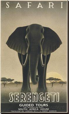 Serengeti Impressão em tela esticada
