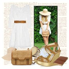 I think I'd like to try a white dress...like this cut/style...have a brown belt already