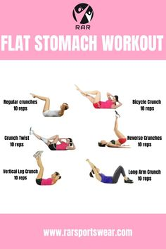 FLAT STOMACH WORKOUT   BELLY WORKOUT   WORKOUT AT HOME