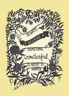 Something Wonderful Print of Original Papercut por SarahTrumbauer