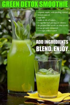 How to make detox smoothies. Do detox smoothies help lose weight? Learn which ingredients help you detox and lose weight without starving yourself. Healthy Detox, Healthy Juices, Healthy Smoothies, Healthy Drinks, Detox Juices, Easy Detox, Green Smoothies, Detox Foods, Smoothies With Flax Seed
