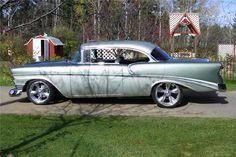 1956 CHEVROLET BEL AIR CUSTOM 2 DOOR HARDTOP - Side Profile - 116118