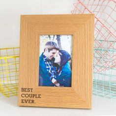 'Best Couple Ever' Oak Photo Frame