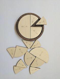 Fractions learning kit – Fraction circles – Fraction kit, fraction to degrees, math manipulative – Montessori – degree learning kit,Learning - Kids&Baby Toys Circle Math, Learning Fractions, Learning Games, Kids Learning, Sets Math, Fraction Games, Tools And Toys, Math Manipulatives, Wood Toys