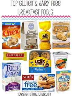 Top gluten free and dairy free breakfast foods