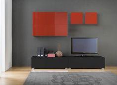Nouveau meuble TV personnalisable design -- > http://www.achatdesign.com/catalogue/meuble-tv/etagere-et-ensemble-mural/tango-ensemble-tv-mural.html