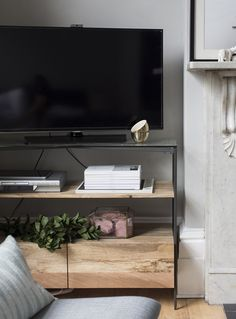 Creating stylish TV storage with a glass-topped rustic media unit | west elm | @shini