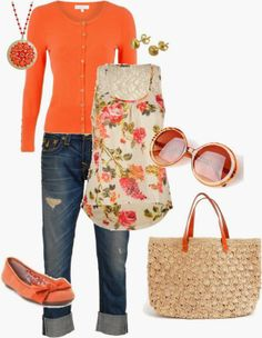 Get Inspired by Fashion: Spring Outfits | Spring Orange
