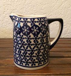 Polish Pottery Pitcher by MimisMiniMarketplace on Etsy