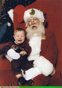 poor baby! and poor Santa
