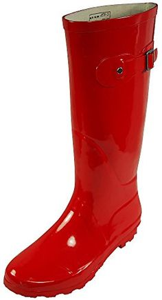 Norty Womens Rain Boots Rubber Solid Color Hi Calf Height Wellies Snow Rainboot Warm Socks, Thick Socks, Rain And Snow Boots, Rubber Rain Boots, Stylish Rain Boots, Thing 1, Couple Halloween Costumes, Halloween 2019, Fashion Deals