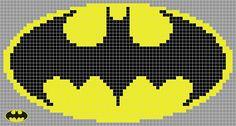 alien and predator cross stitch patterns | Batman Logo Pixel Template Batman logo v01 by alien-exile