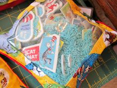 Seuss Themed I-spy Bag Tutorial from The Artful Child.