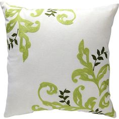 Better Homes and Gardens Citrus Scroll Pillow, Cream