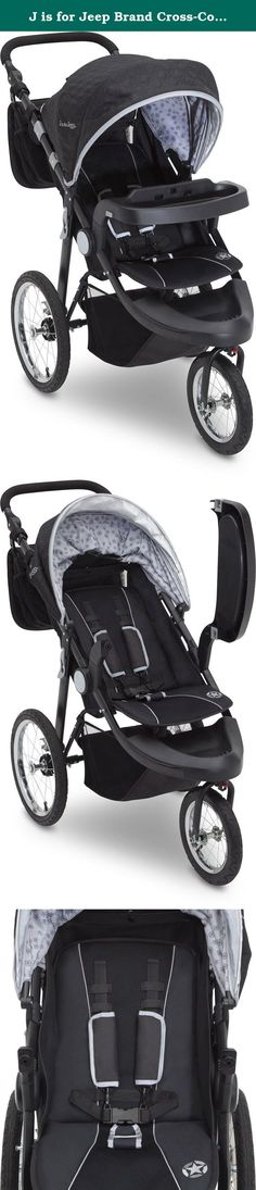 J is for Jeep Brand Cross-Country Sport Plus Jogger, Charcoal Galaxy. Travel, trek, wander or roam with the J is for Jeep Brand Cross-Country Sport Plus Jogger. A versatile jogging stroller, it showcases how luxury and extreme capability combine to help you create unforgettable journeys with your child. Equipped with durable frame, front swivel wheel, and an extendable European canopy with sun visor and peek-a-boo window, it's designed for parents and kids with an active lifestyle. Able…