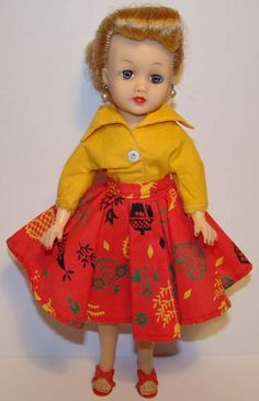 This is a C1959 Ideal Little Miss Revlon Doll in her #9210 Outfit.