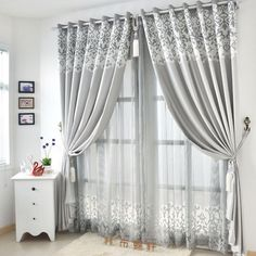 Graceful Living Room Suitable Light Gray Curtains Grey Curtains For Living Room Kids Curtains, Home Curtains, Living Room Decor Curtains, Curtains Living, Grey Curtains, Farmhouse Window Treatments, Grey Curtains Living Room, Modern Curtains, Living Room Grey