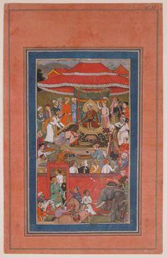 """Asaf khan Presents Offerings"", Folio from the Davis Album"