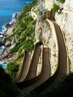 in Capri Island, Italy. Raul made me walk up this path. I wanted to KILL him!