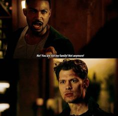 Do u see this Klaus is so hurt and surprised by this and I breakers my heart bc Klaus doesn't let many people in...